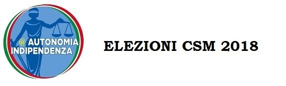 ELEZIONI CSM A&I 2018